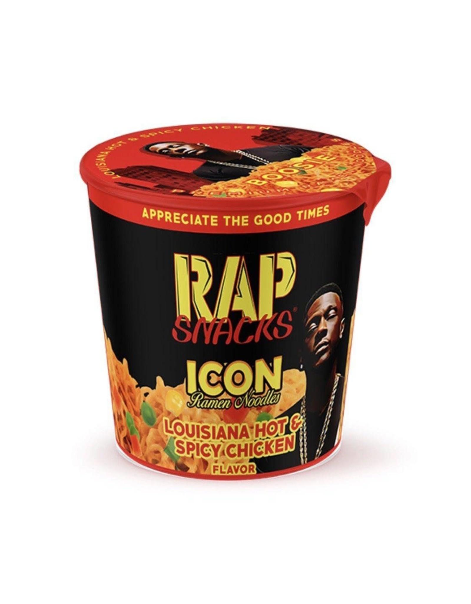 Rap Snacks - Icon Ramen Noodles - Louisiana Hot and Spicy Chicken Flavor - 64g