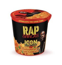 Rap Snacks - Icon Ramen Noodles - Louisiana Hot and Spicy Chicken Flavor -64g