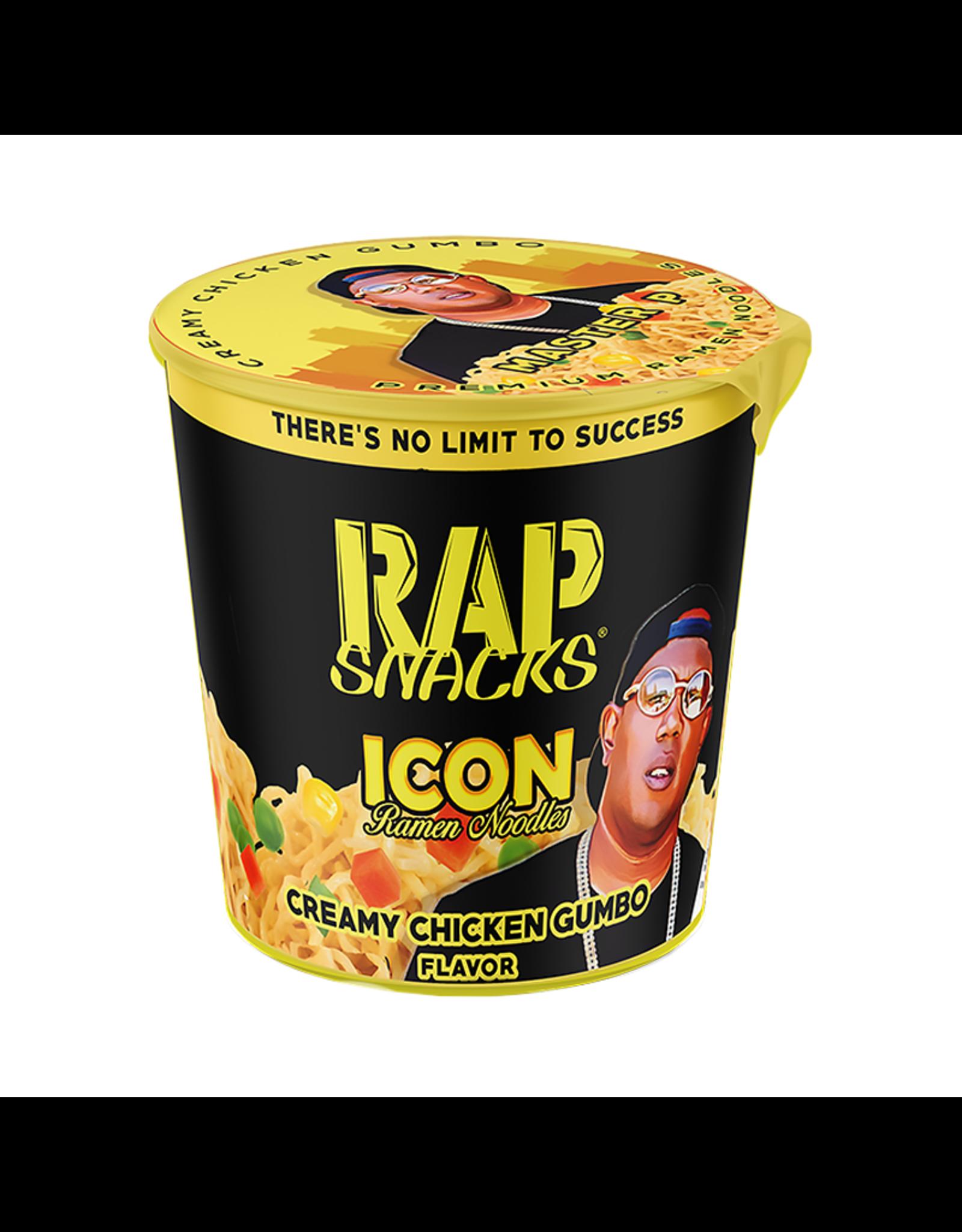 Rap Snacks - Icon Ramen Noodles - Creamy Chicken Gumbo Flavor - 64g