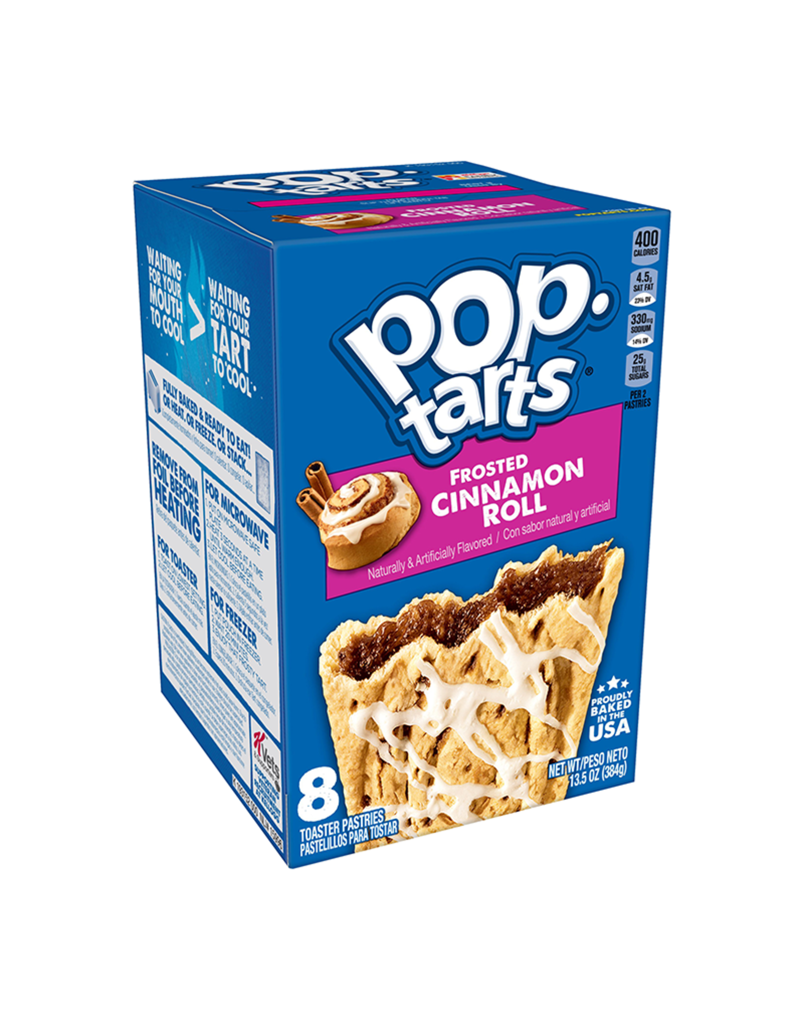 Pop-Tarts Frosted Cinnamon Roll - 8 Pack - 384g