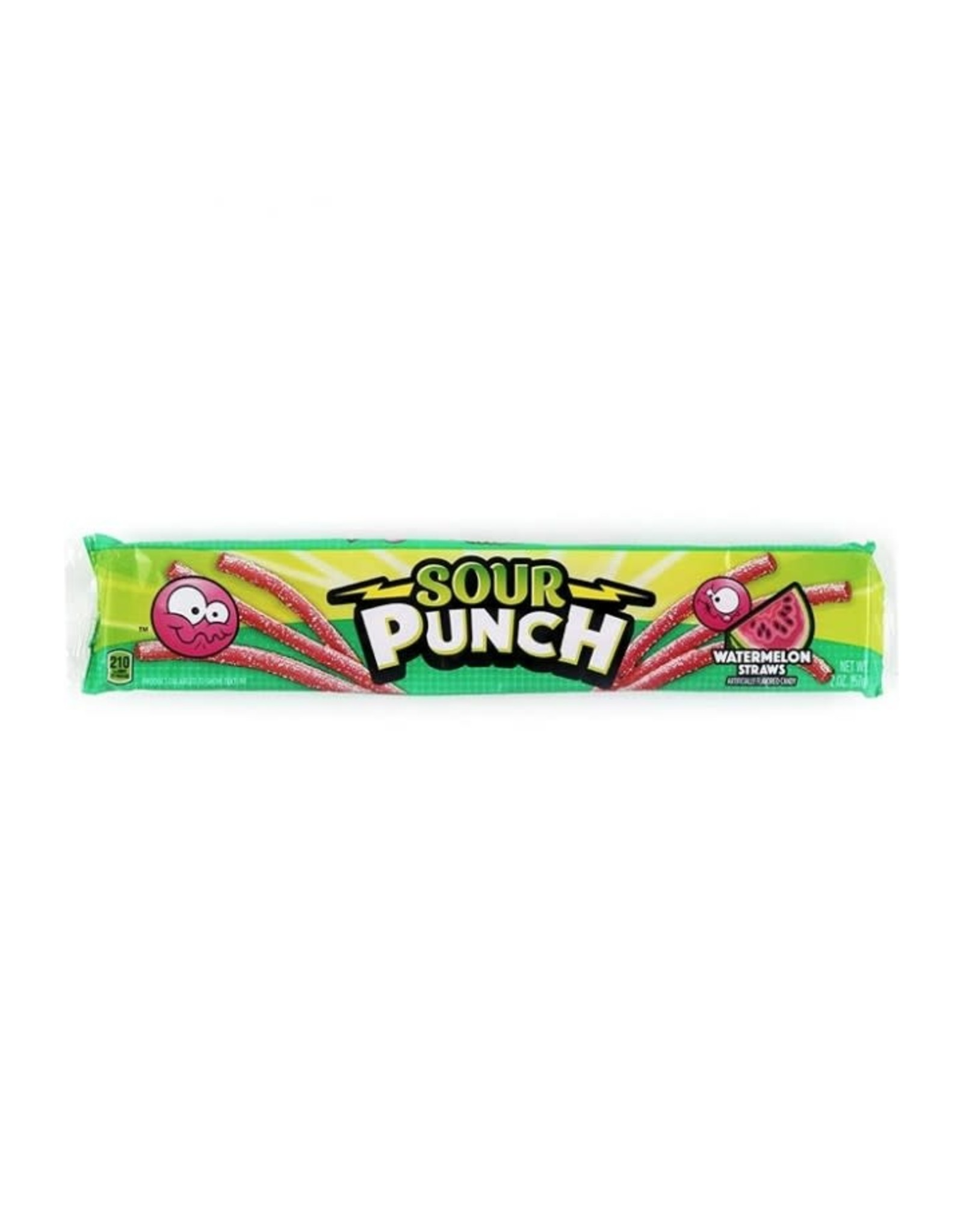 Sour Punch - Watermelon Straws - 57g