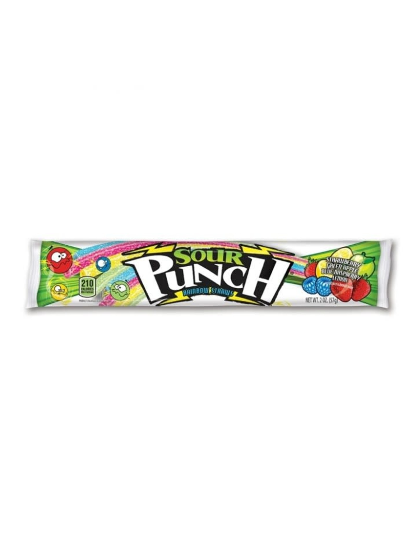 Sour Punch - Rainbow Straws - 57g