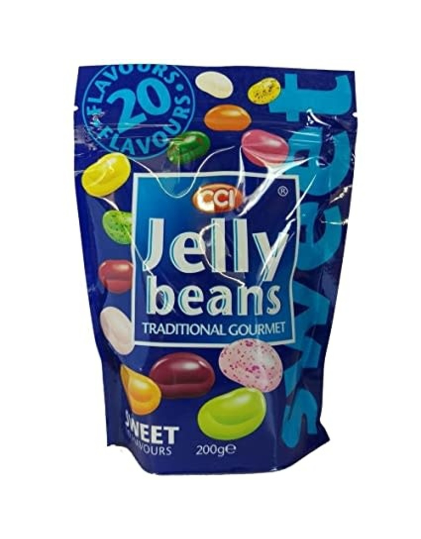 CCI Sweet Jelly Beans  - 18 Sweet + 2 Sour Flavors - 200g