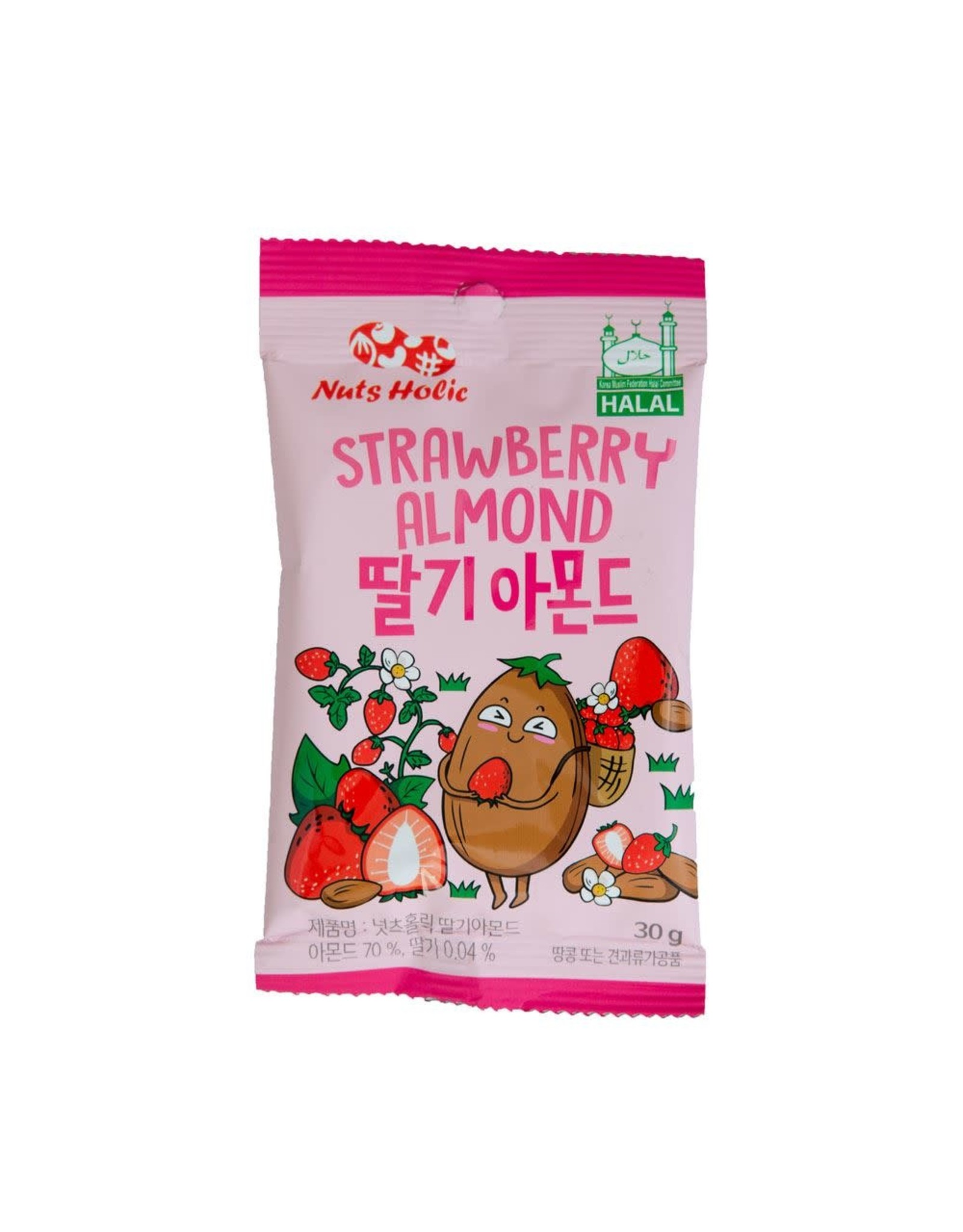 NutsHolic - Strawberry Almonds - 30g