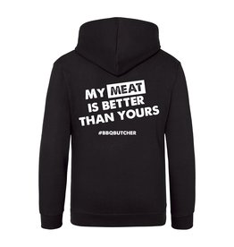 "BBQButcher.nl Hoodie ""My Meat is Better than Yours"""