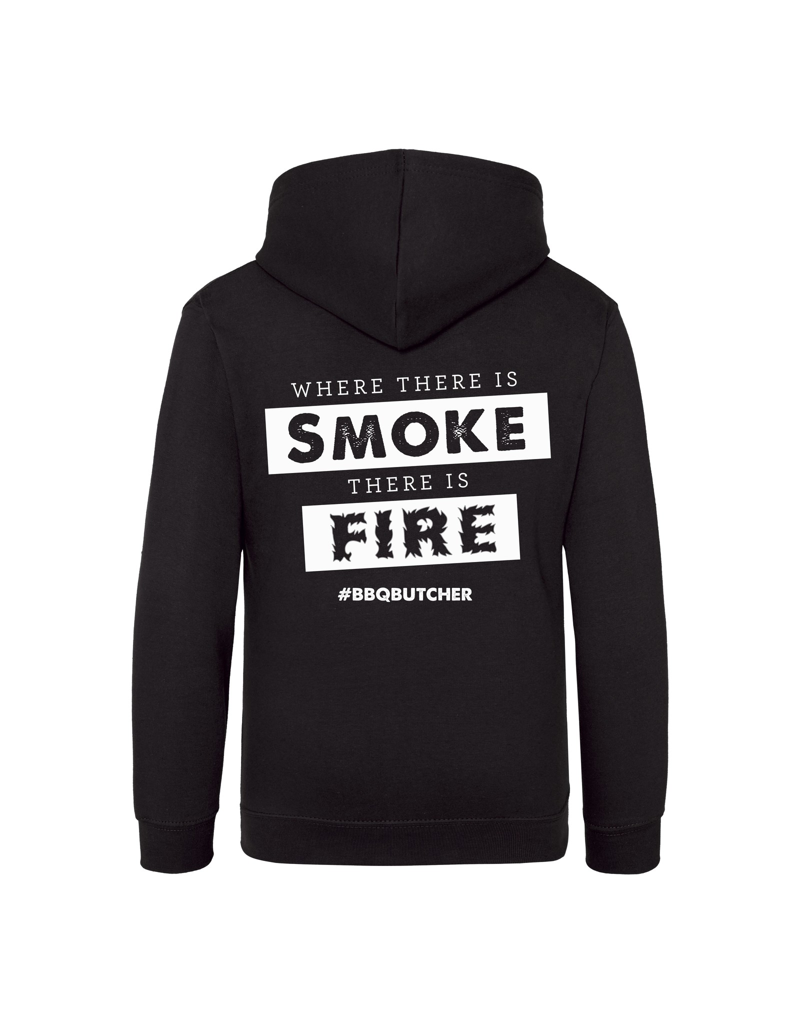 """BBQButcher.nl Hoodie """"Where There is Smoke There is Fire"""""""