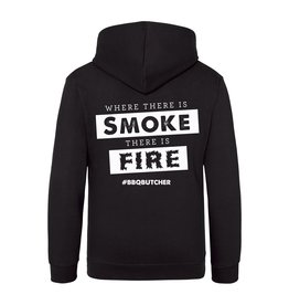 "BBQButcher.nl Hoodie ""Where There is Smoke There is Fire"""