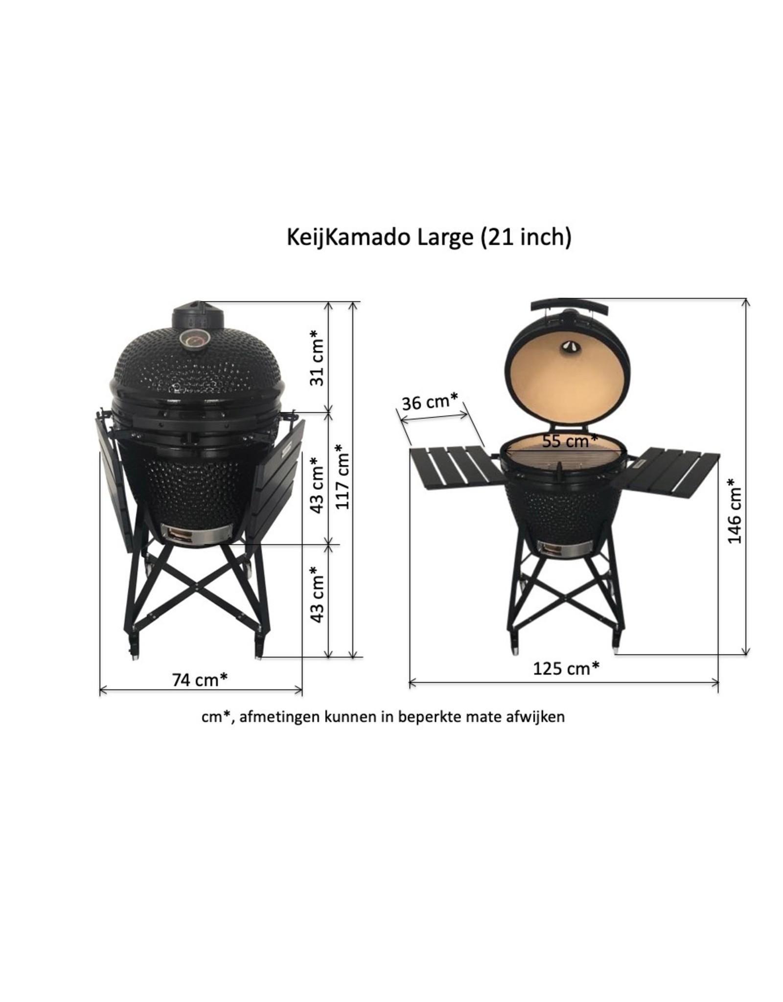"KamadoKar inclusief Kamado Large (21"")"