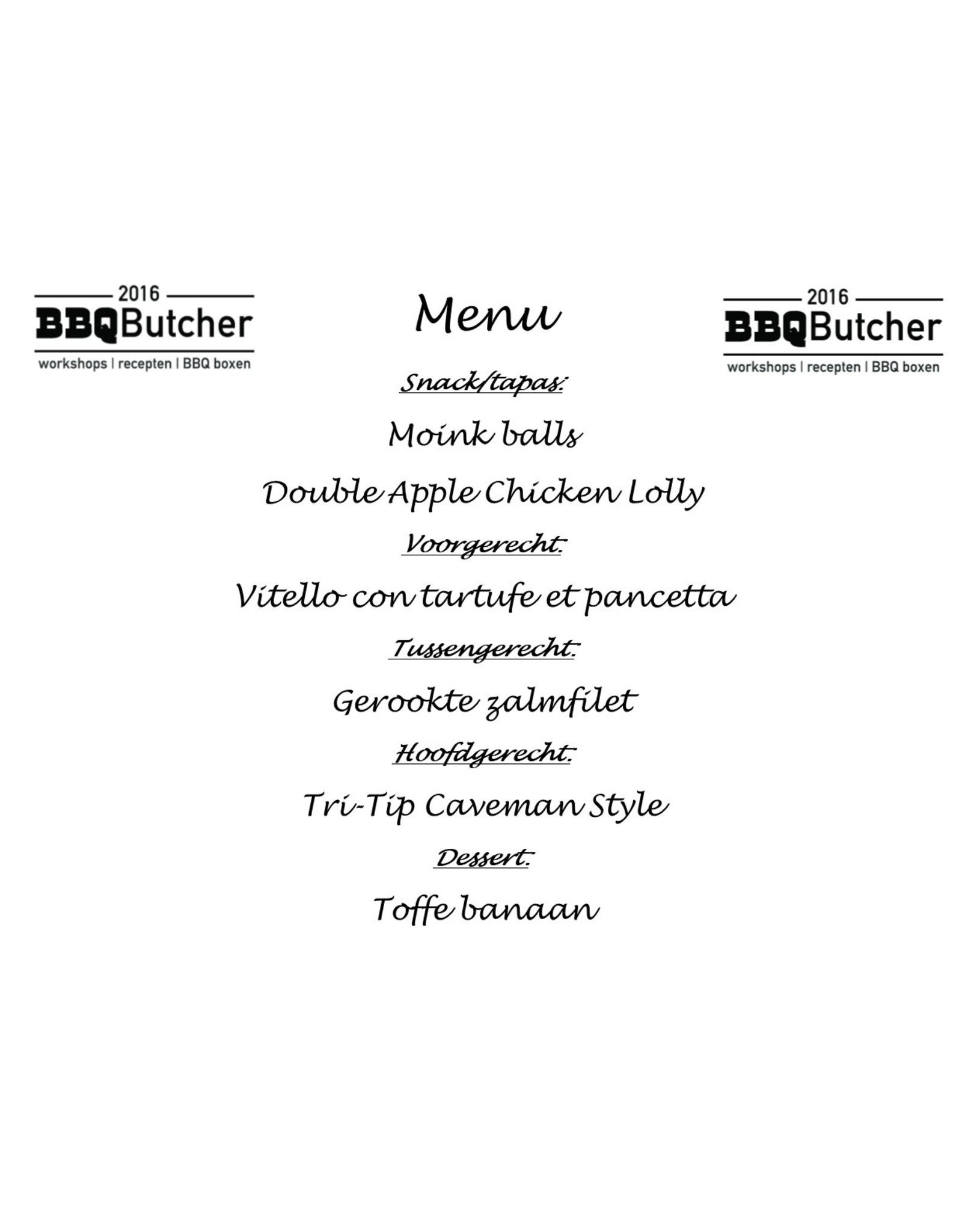 BBQ Butcher#1 Workshop