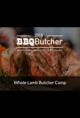 Whole Lamb Butcher Camp