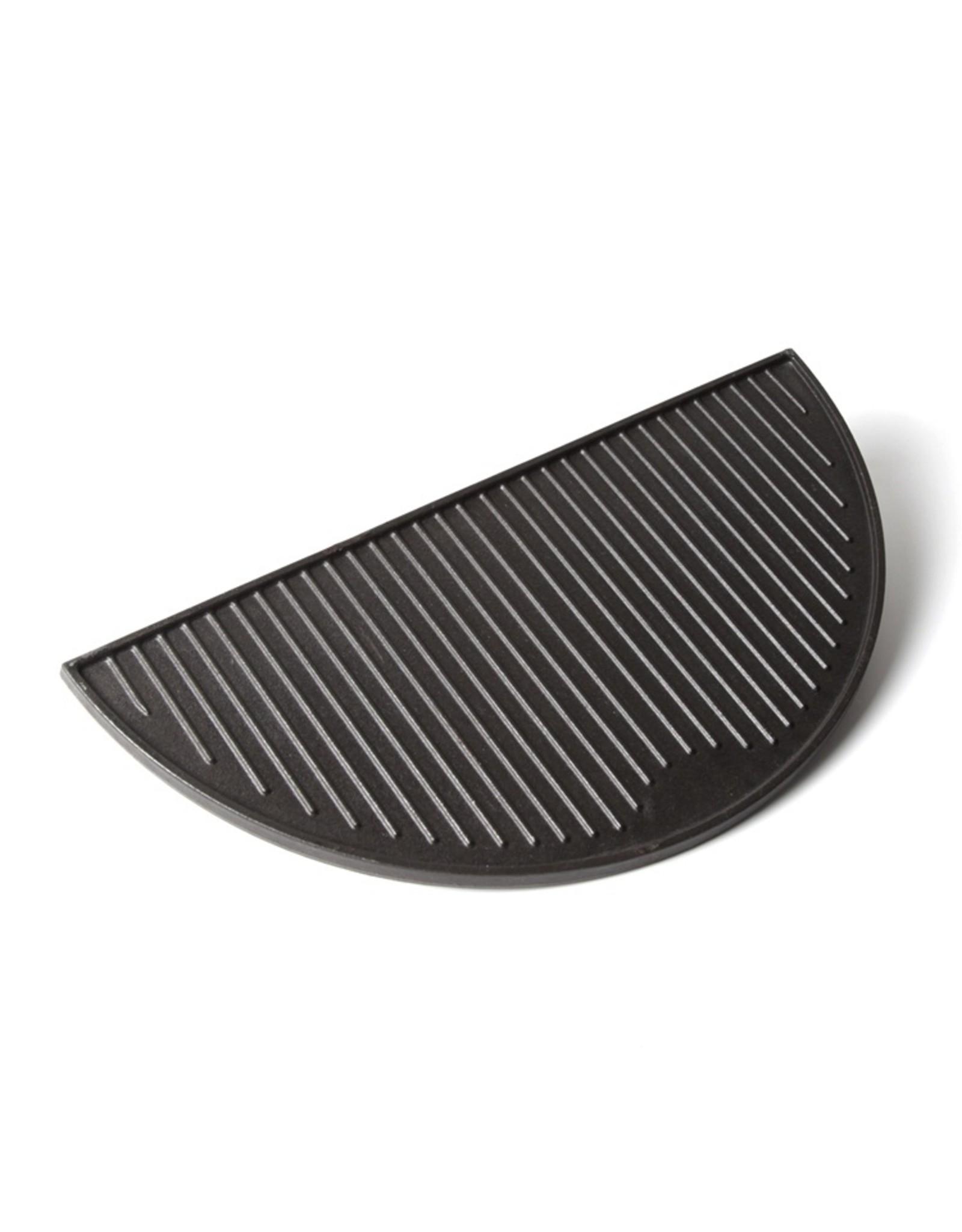 Keij Kamado® Gietijzeren grillplaat, half rond - Large (46,5 cm)