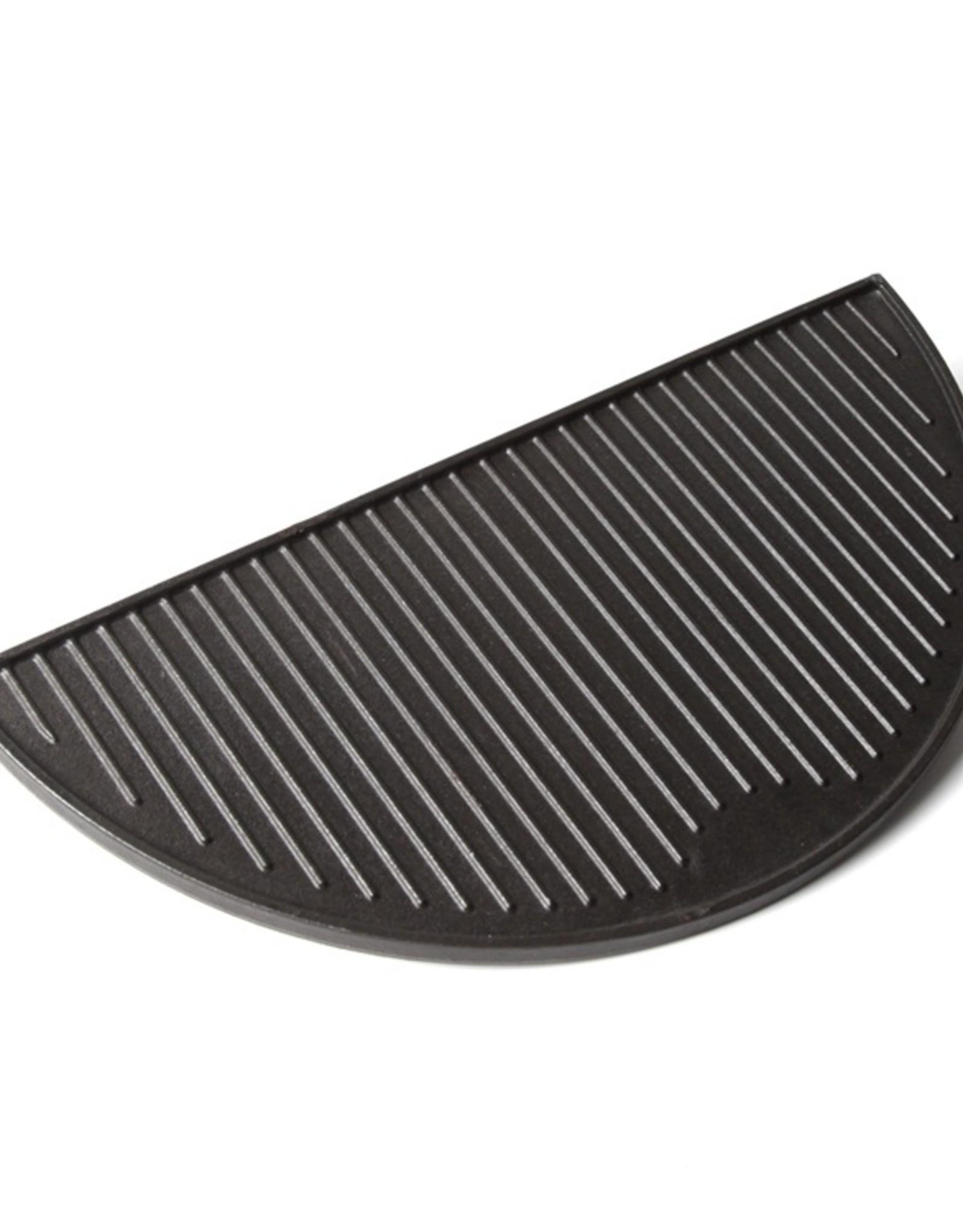 Keij Kamado® Gietijzeren grillplaat, half rond - XL (49,5 cm)