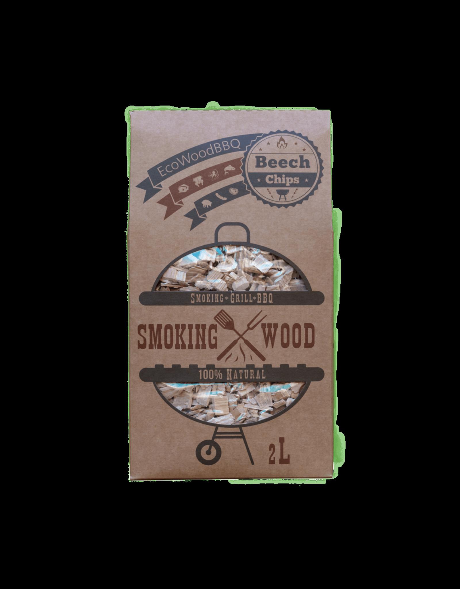 EcoWoodBBQ Rookhout chips BEUKEN - 2 Liter