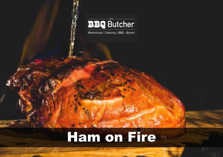 Ham on fire