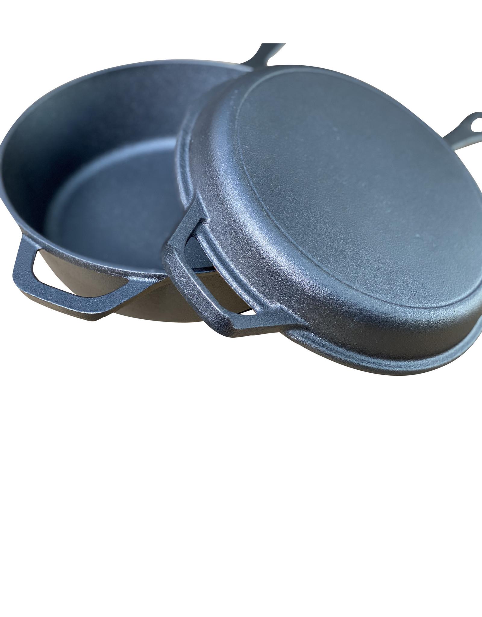 Keij Kamado® Gietijzeren Deep Skillet Set - 26,5 cm