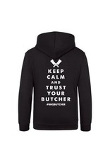 """BBQButcher.nl Hoodie """"Keep Calm and Trust your Butcher"""""""