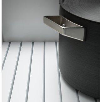 SieMatic Anti-slipmat voor hoekonderkast met zwenkplateaus en aluminium omranding