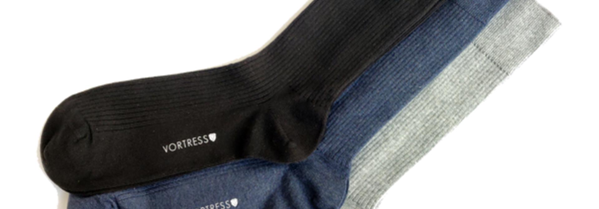 Vortress Socks (3-pack) gemaakt van SUPIMA katoen - Copy