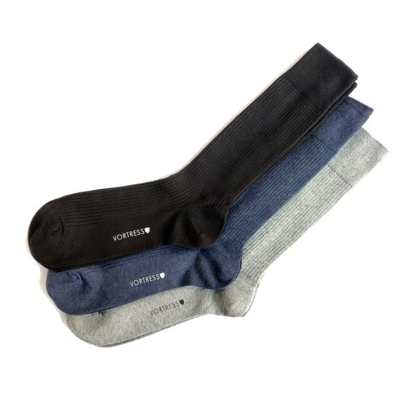 Vortress Socks (3-pack) gemaakt van SUPIMA katoen - Copy-1