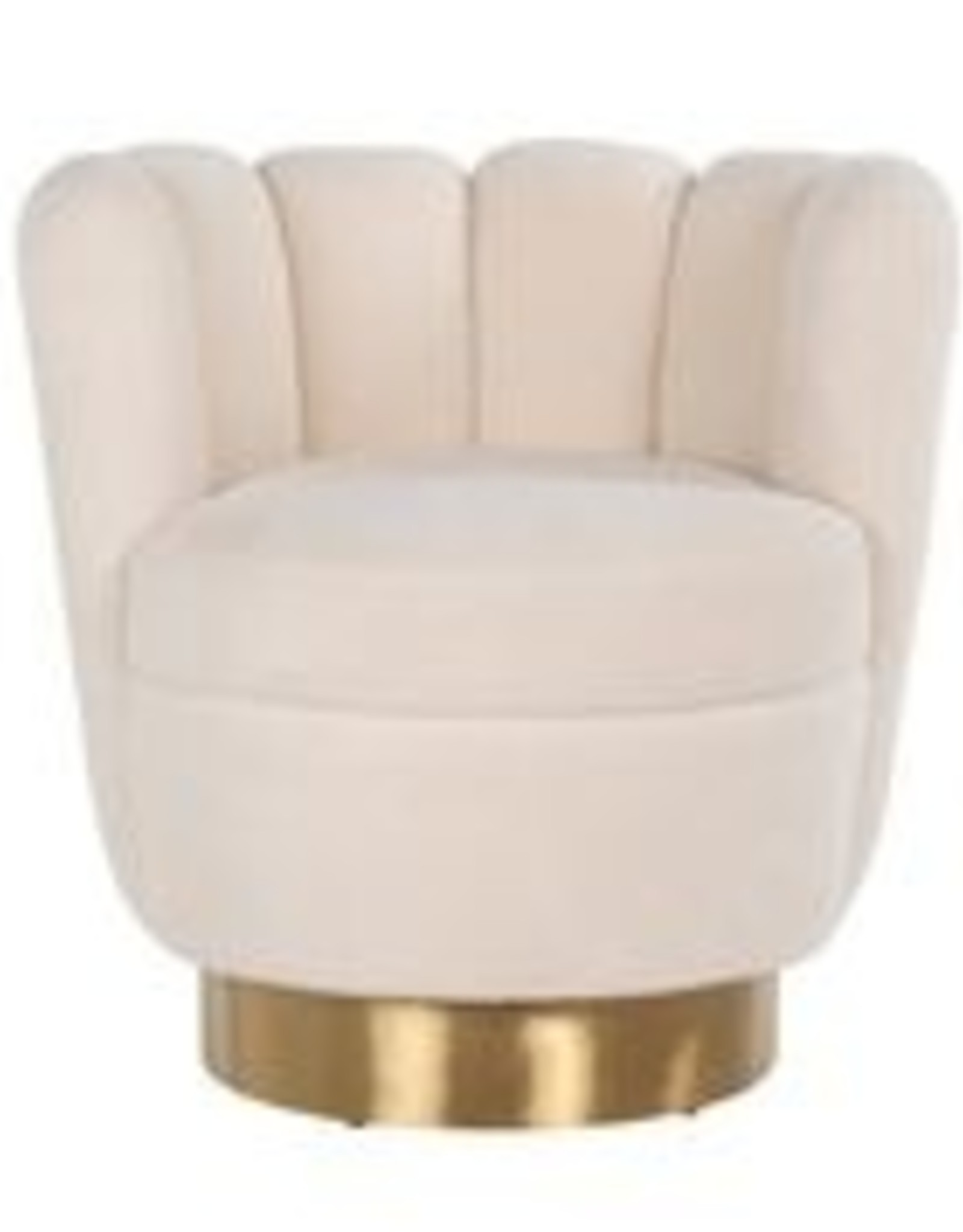 Richmond Interiors Fauteuil mayfair Faux sheep brushed gold
