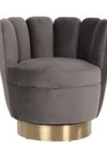 Richmond Interiors Fauteuil mayfair stone velvet/brushed gold