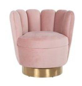 Richmond Interiors Fauteuil mayfair pink velvet/brushed gold