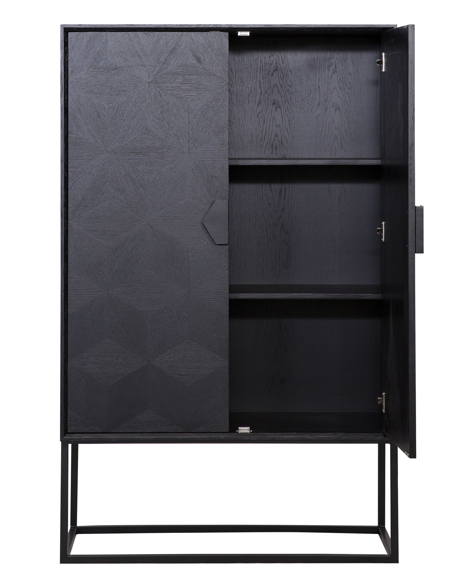 Richmond Interiors Wandkast Blax 2 deurs zwart