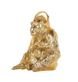 Richmond Interiors Gorilla music deco object gold