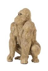 Richmond Interiors Gorilla deco object gold small