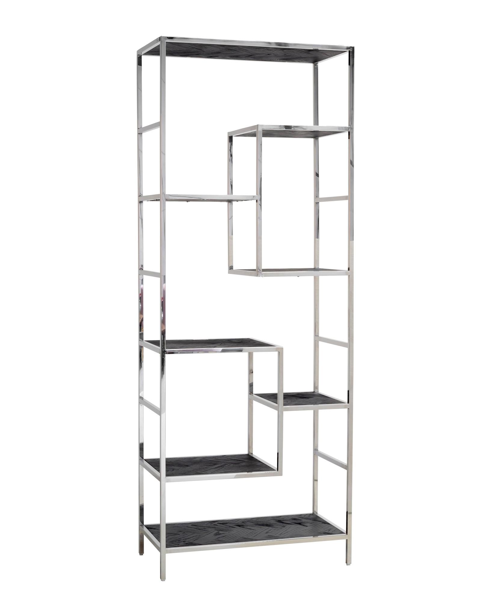 Wandkast Blackbone silver 7-planken zilver