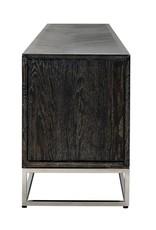 TV-dressoir 220 Blackbone silver 4-deuren zilver