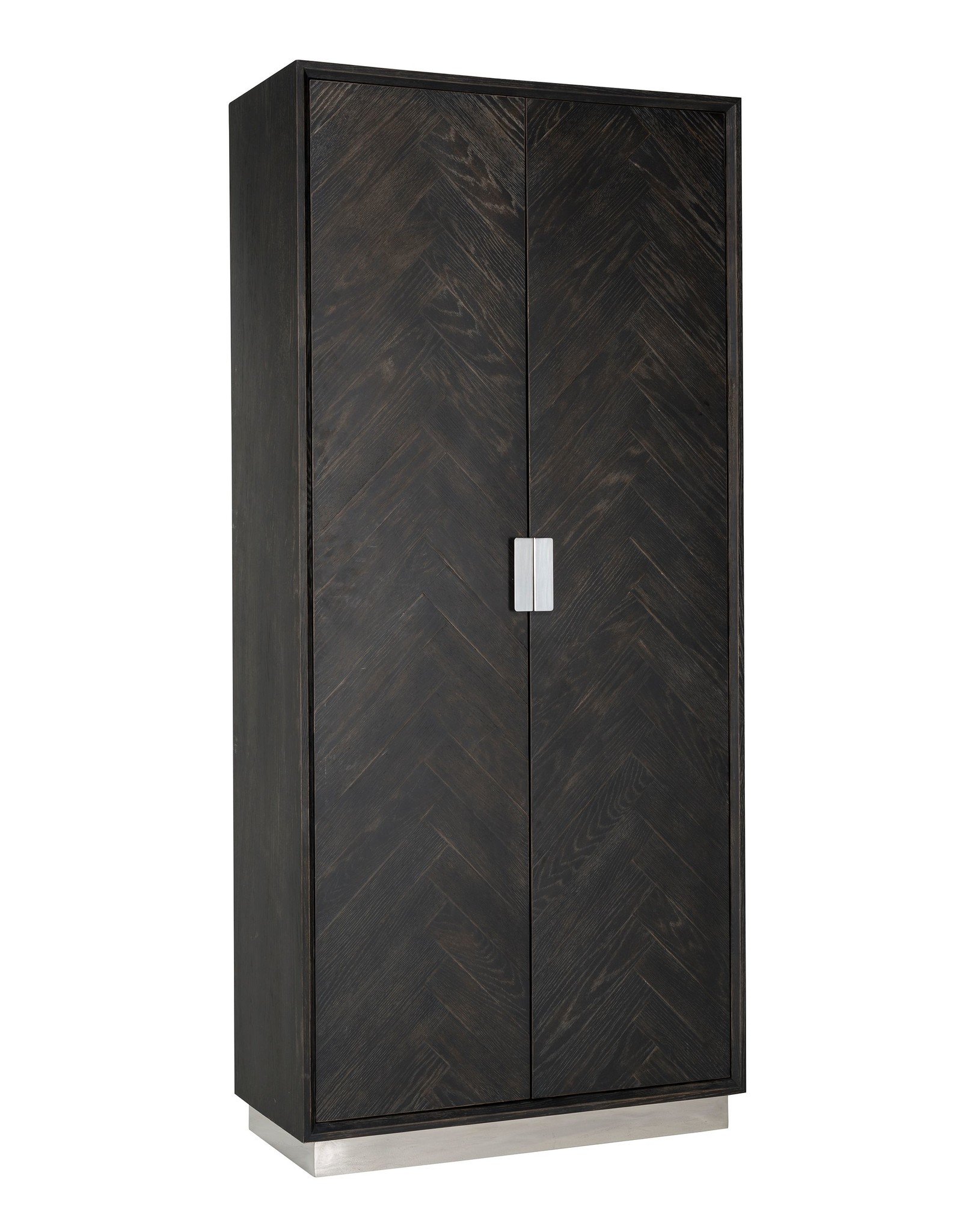 Richmond Interiors Wandkast Blackbone zilver 2-deuren hoog