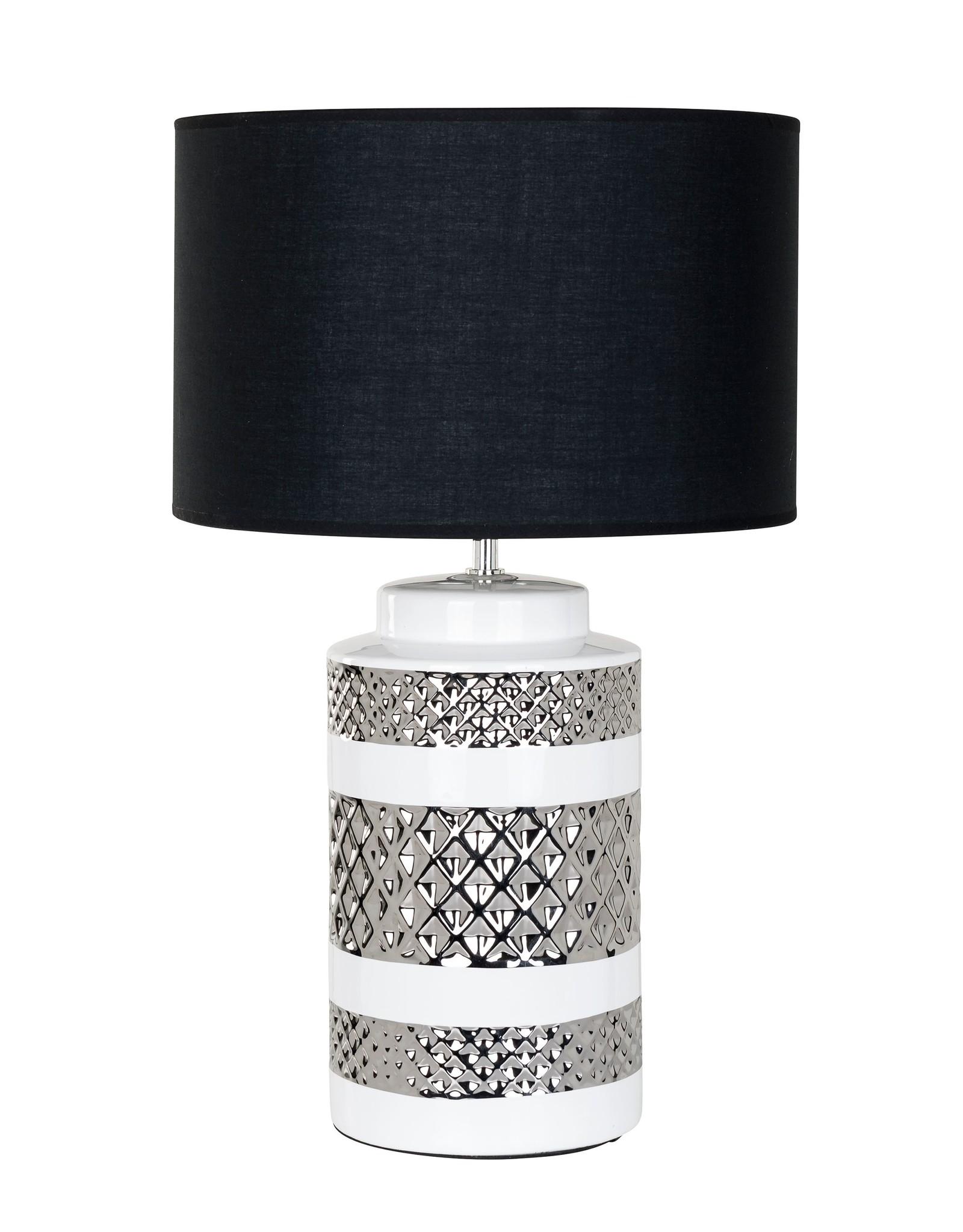 Richmond Interiors Tafellamp Aurora incl. lampenkap zwart