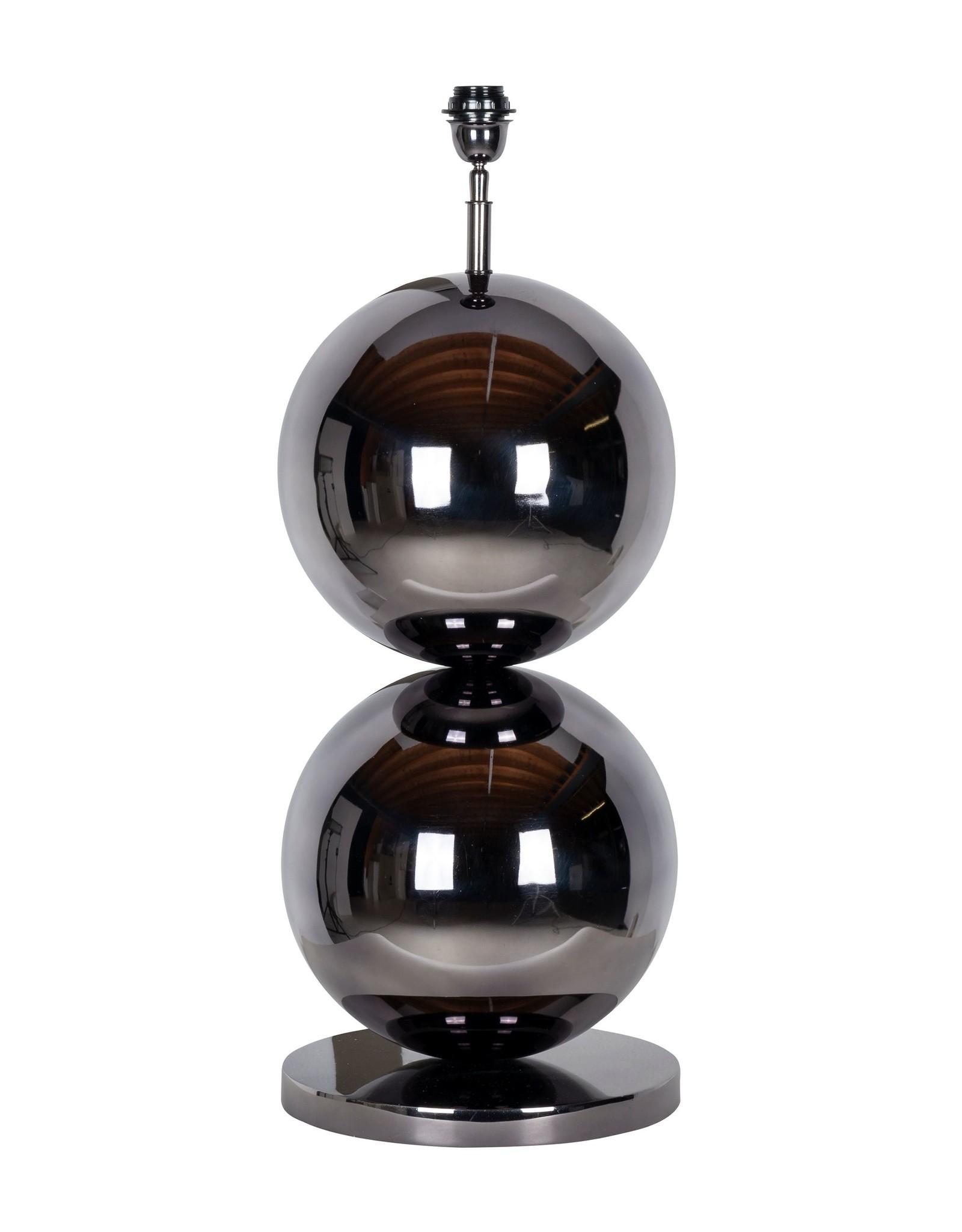 Richmond Interiors Tafellamp Bobbie zwart nickel