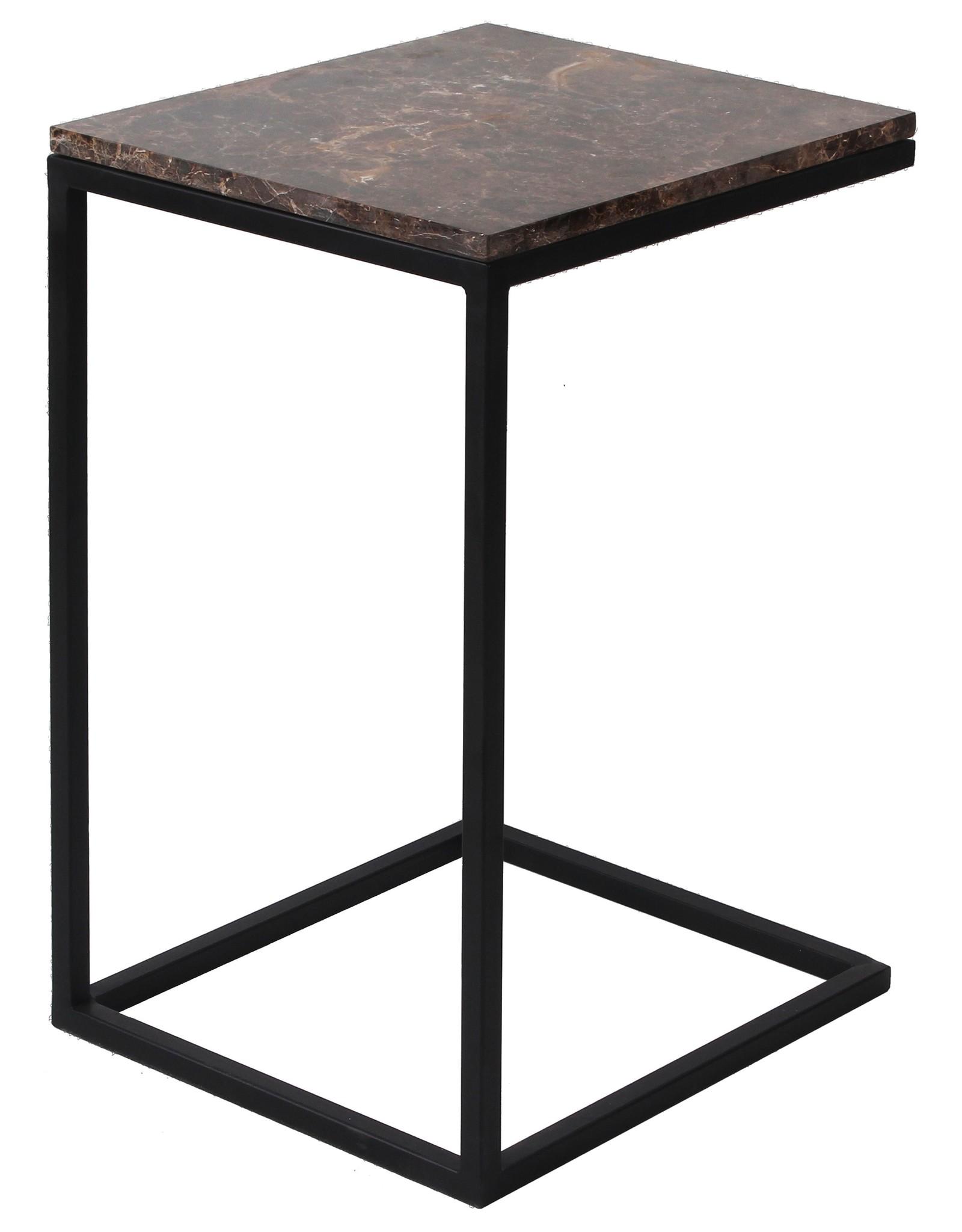 Richmond Interiors Sofa tafel Dalton brown emperador
