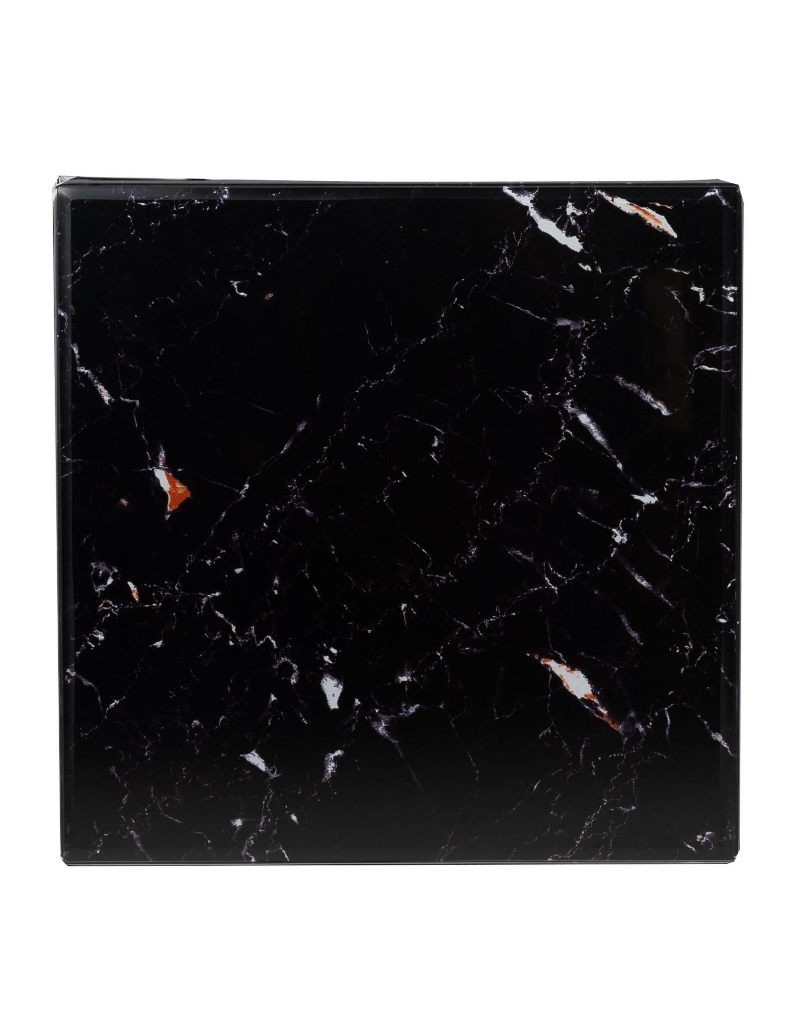 Richmond Interiors Bijzettafel Dante met zwart marble look