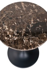 Richmond Interiors Bijzettafel Orion 45Ø met bruin marmer