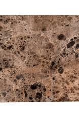Richmond Interiors Bijzettafel Orion met bruin marmer