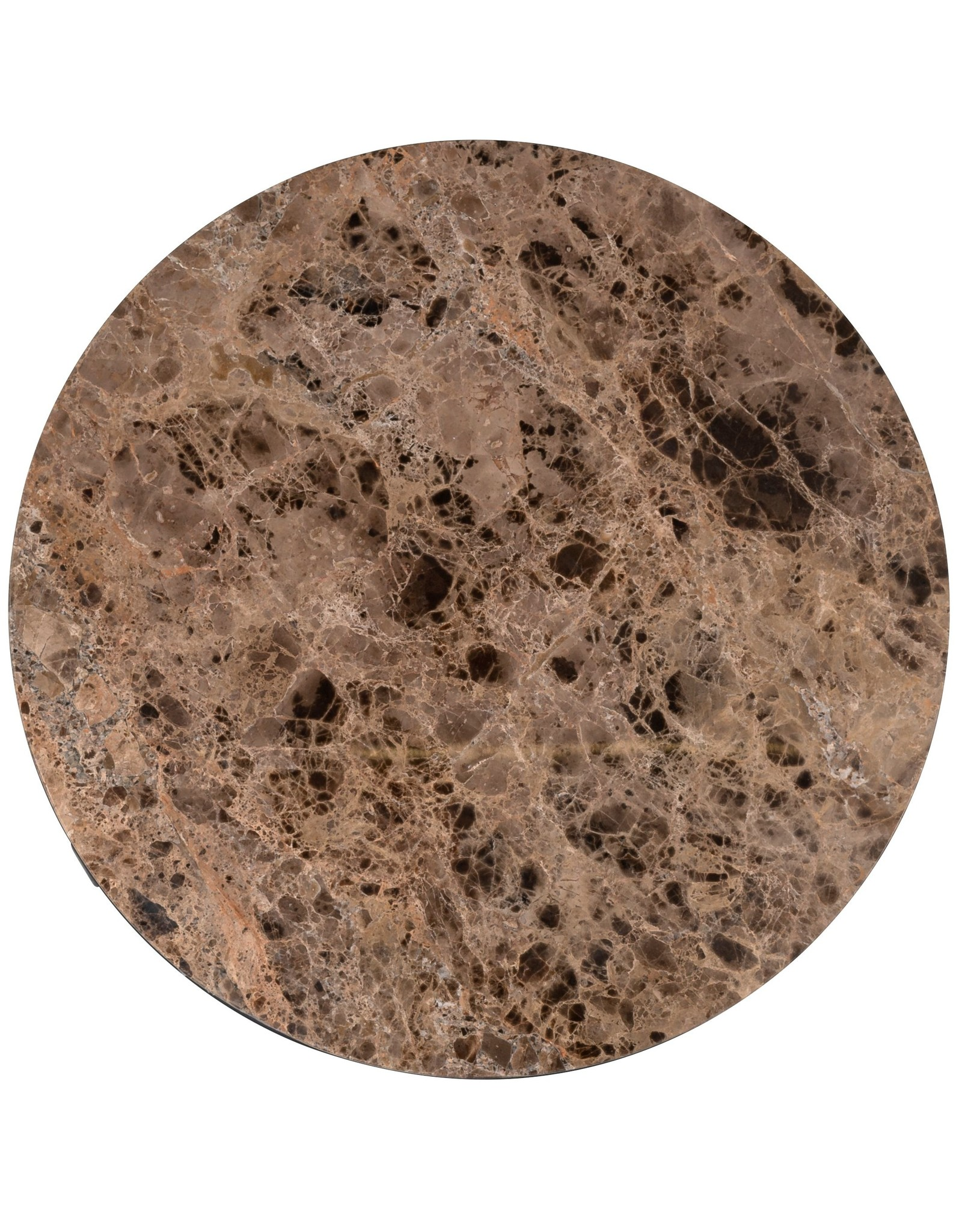 Richmond Interiors Salontafel Orion 60Ø met bruin marmer