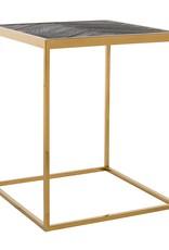 Richmond Interiors Bijzettafel Blackbone gold 50x50