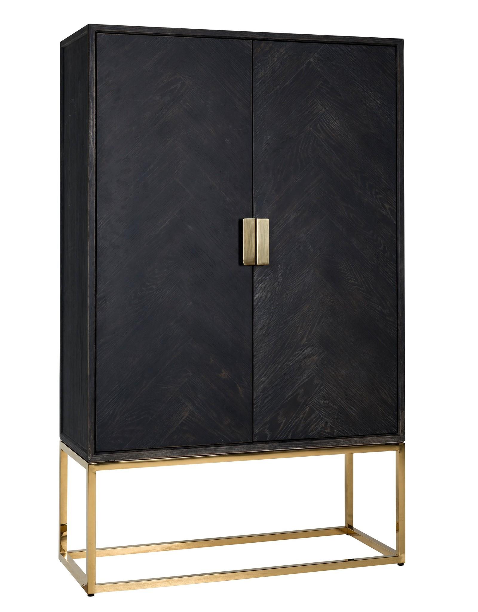 Richmond Interiors Wandkast Blackbone gold 2-deuren laag