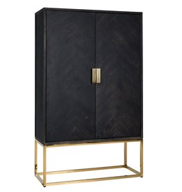 Richmond Interiors Wandkast Blackbone gold 2-deuren laag