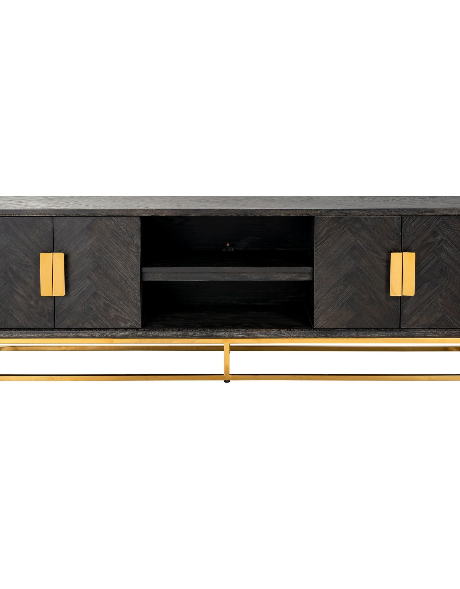 Richmond Interiors TV-dressoir 185 Blackbone gold 4-deuren