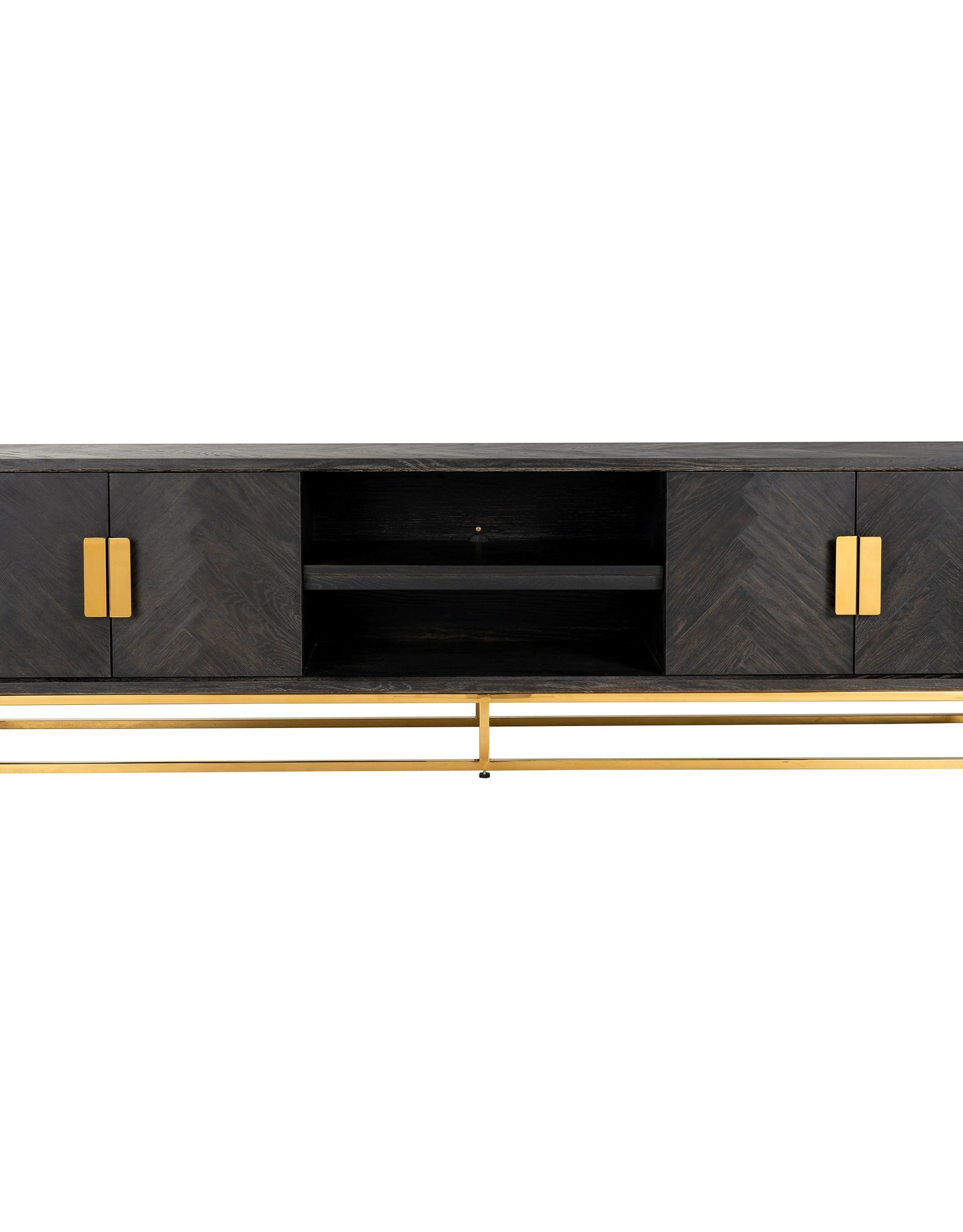 Richmond Interiors TV-dressoir 220 Blackbone gold 4-deuren