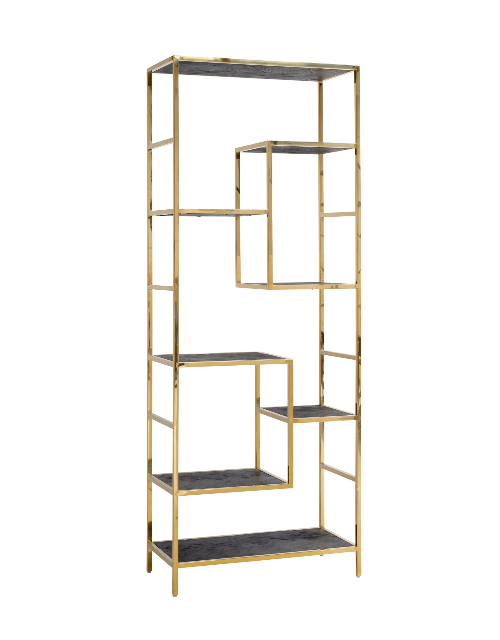 Richmond Interiors Wandkast Blackbone gold 7-planken