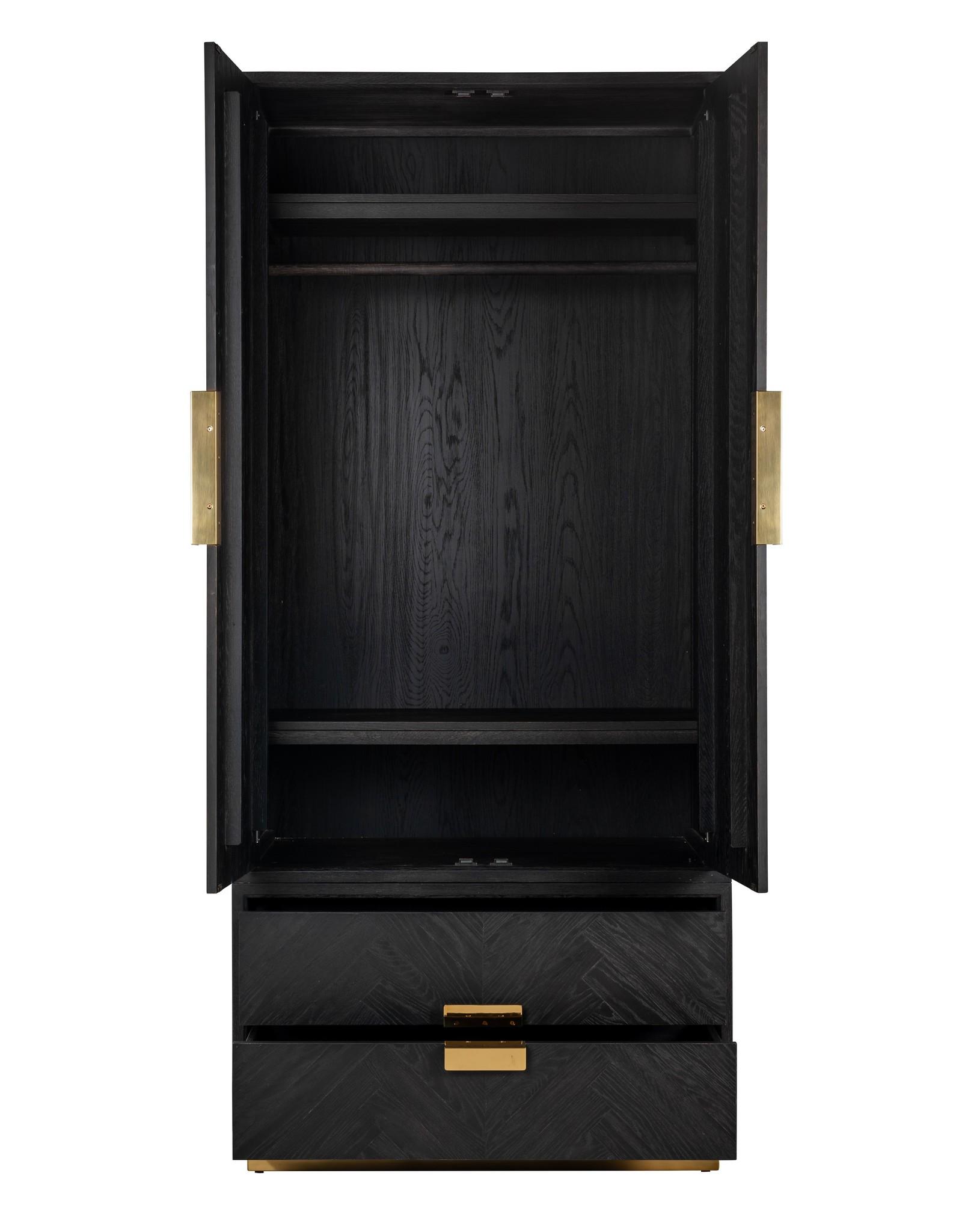 Richmond Interiors Linnenkast Blackbone gold 2-deuren 2-laden