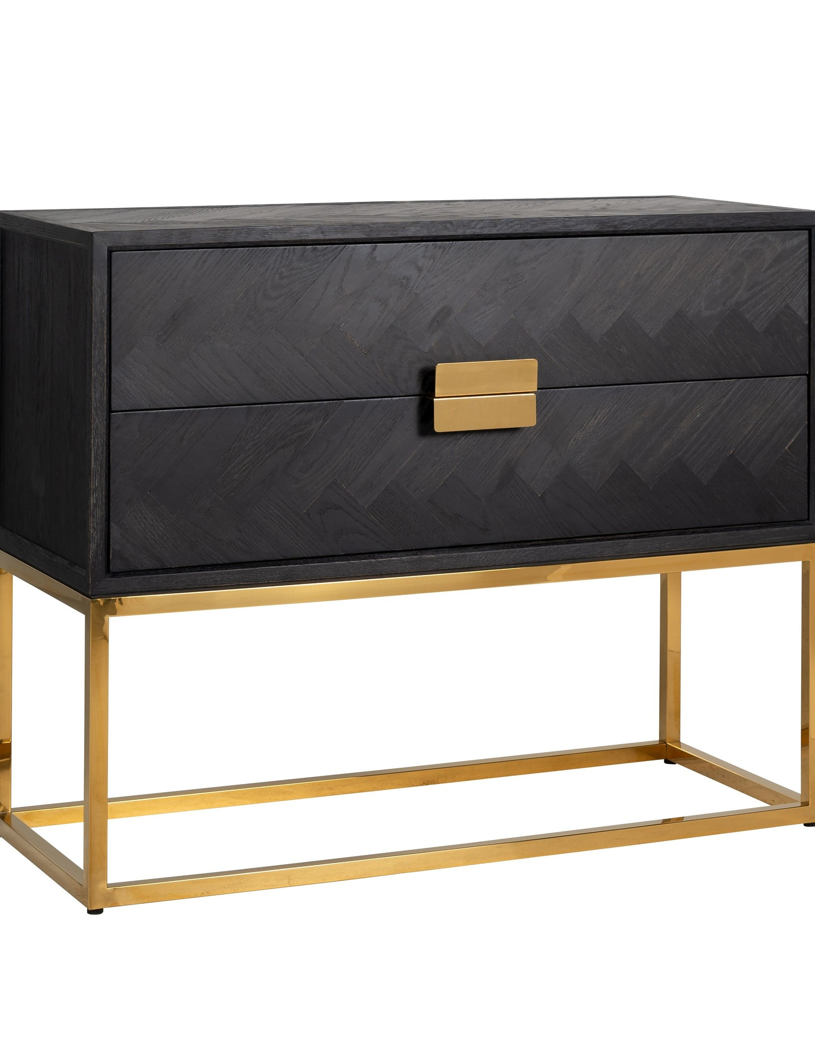 Richmond Interiors Ladenkast Blackbone gold 2-laden