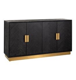 Richmond Interiors Dressoir Blackbone gold 4-deuren