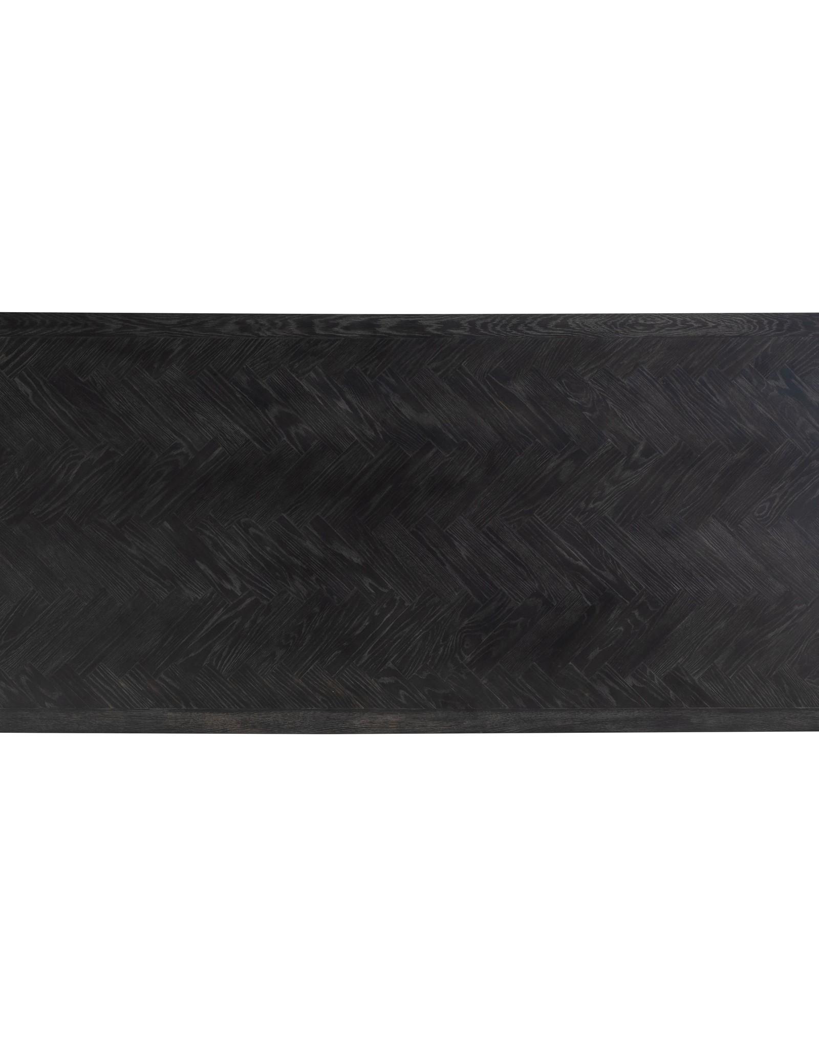 Richmond Interiors Eettafel Blackbone Matrix gold 240x100