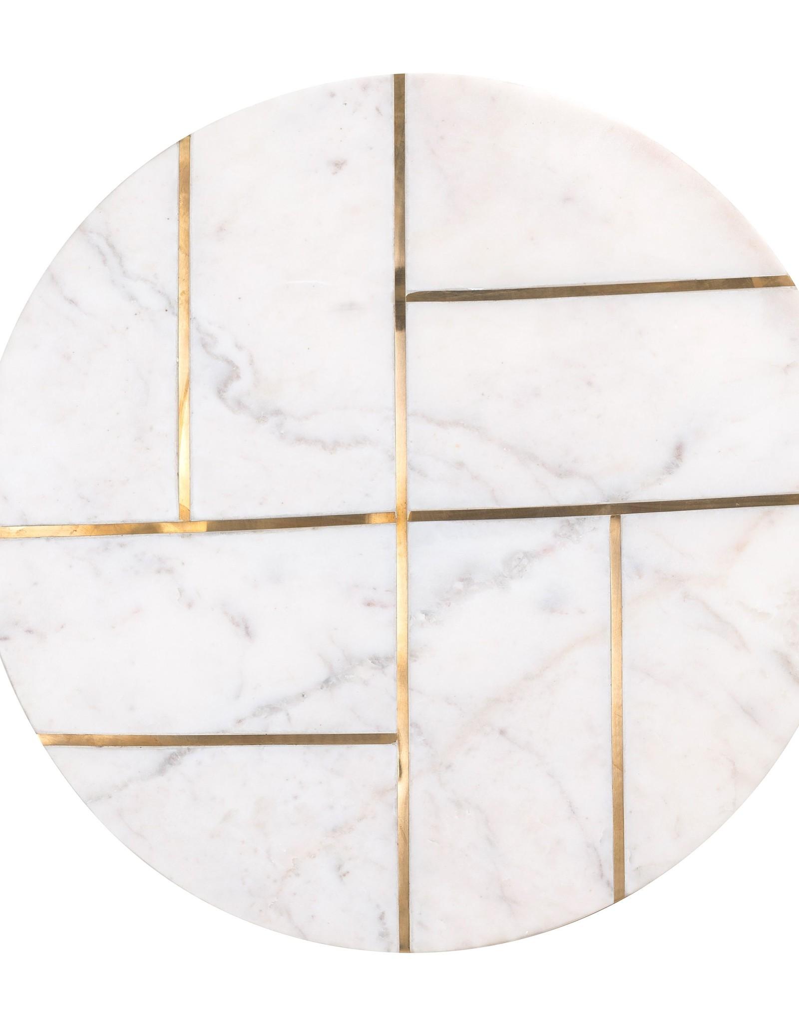 Richmond Interiors Bijzettafel Cody met marmer (Goud)